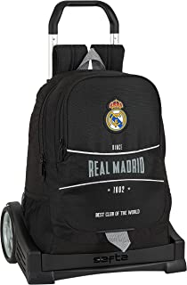 Mochila Espalda Ergonómica con Carro Evolution de Real Madrid, Multicolor, 612024860