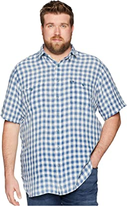 Big & Tall Linen Short Sleeve Sport Shirt
