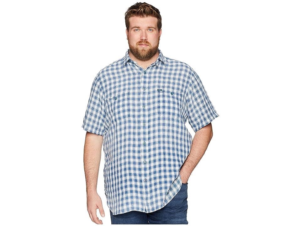 Polo Ralph Lauren Big Tall Linen Short Sleeve Sport Shirt (Natural/Indigo) Men