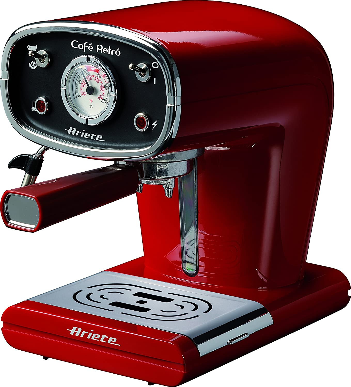 Ariete 1388A Rétro Machine à café Rouge Rouge