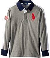 Polo Ralph Lauren Kids - Cotton Jersey Rugby Shirt (Big Kids)