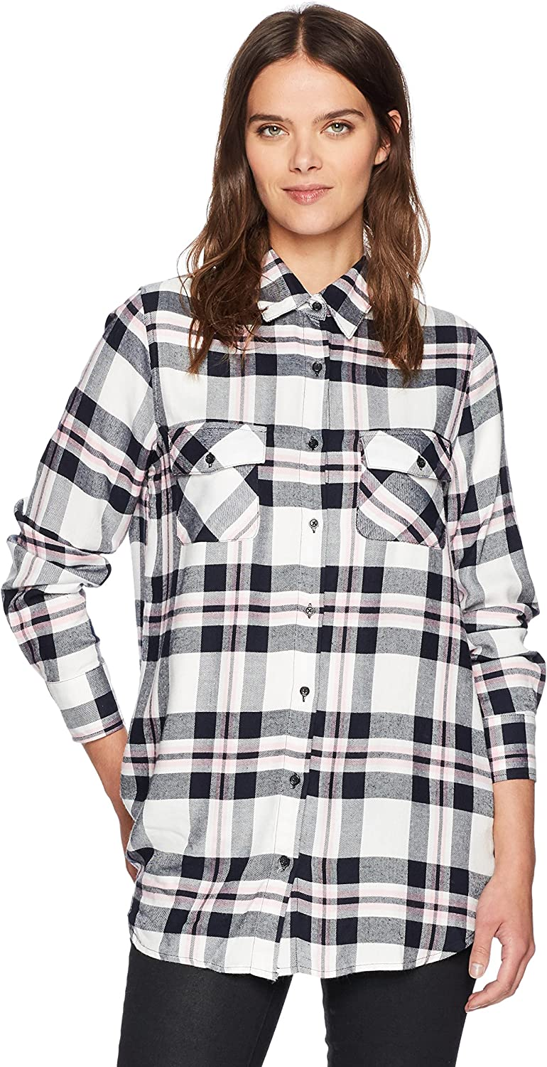 BB Dakota Womens Forest Plaid Pocket Button Down Shirt ButtonDown Shirt