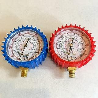 (布袋尊) エアコン ガスチャージ マニホールドゲージ 圧力計 R410a R22 R134a R404a 対応 (高圧側)