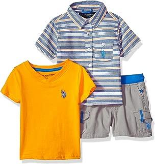 Baby Boy's Short Sleeve Shirt, T-Shirt and Short Set Shorts
