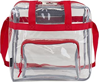 Clear NFL Stadium Approved Tote, Sport Red