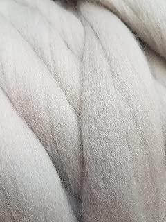 Super Chunky Merino Wool Yarn, 100% Natural,, Australian Giant Yarn (2.2 lb, Light Gray)