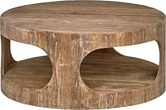 Stone & Beam Miramar Elm Wood Cutout Coffee Table, 39.4