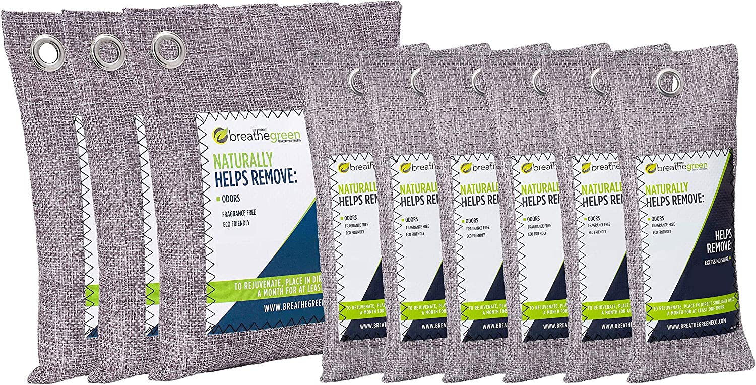 Breathe Green Bamboo Charcoal Bags 9-Pack Spring new work one after another Absorber Odor Activa Complete Free Shipping