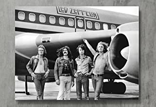 Led Zeppelin Poster - Zeppelin Canvas Print Classic Rock Wall Art Posters Print Standard Size 18