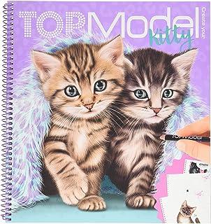 Depesche 11133 Kolorowanka Create Your Kitty, TOPModel, ok. 22 x 20 x 1,5 cm