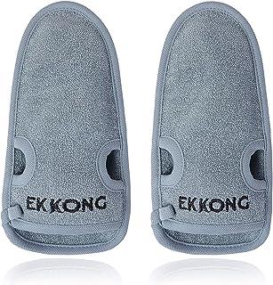 2 Pieza guantes exfoliantes, hecho de fibra de carbón de
