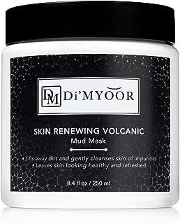 Skin Renewing Volcanic Mud Mask by Di'Myoor - Dirt Skin and Blackhead Remover - Skin Renewal Moisturizer, Revitalizing and Anti Aging Facial Cleanser
