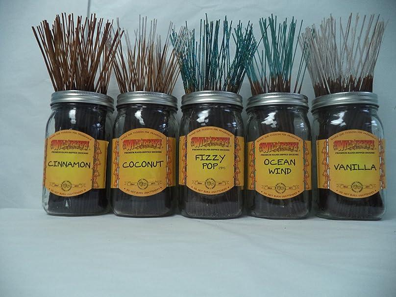 回想戻すフレッシュWildberry Incense Sticks Best Sellerセット# 4?: 10?Sticks各5の香り、合計50?Sticks 。