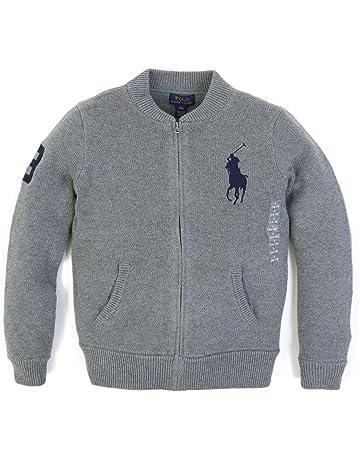 5ba23722d1937 (ポロ ラルフローレン) POLO Ralph Lauren ボーイズ フルジップセーター ニットジャージ ジャケット  並行