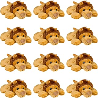 Wildlife Tree (12 Pack) African Lion Mini 4 Inch Small Stuffed Animals, Bulk