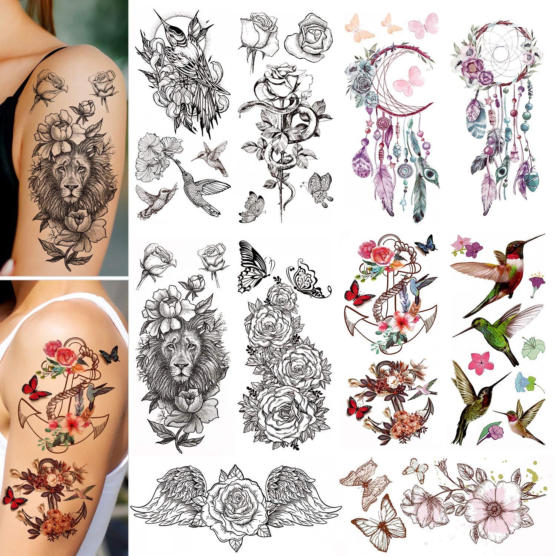 Konsait Temporary Tattoo for Women Girls Extra Outstanding Tempor Kids Super popular specialty store Fake