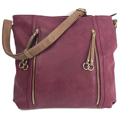 e7f682703f83 Designer Handbags for Women MILANO Classic Italian Styled Fashion Shoulder  Bag Slouch in Beautiful Matt