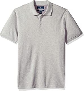 Amazon Brand - BUTTONED DOWN Men's Slim-Fit Supima Cotton Stretch Pique Polo Shirt