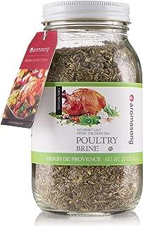 HERBS DE PROVENCE Dry Turkey Brine 22 OZ. In Glass jar. 100% Natural, Gourmet Poultry Seasoning Made with Dead Sea Salt, for Brisket, Rib, Chicken, Pork, Beef, Salmon.