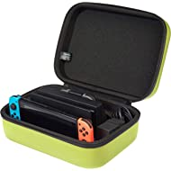 AmazonBasics Hard Shell Travel and Storage Case for Nintendo Switch - 12 x 4.8 x 9 Inches, Neon...