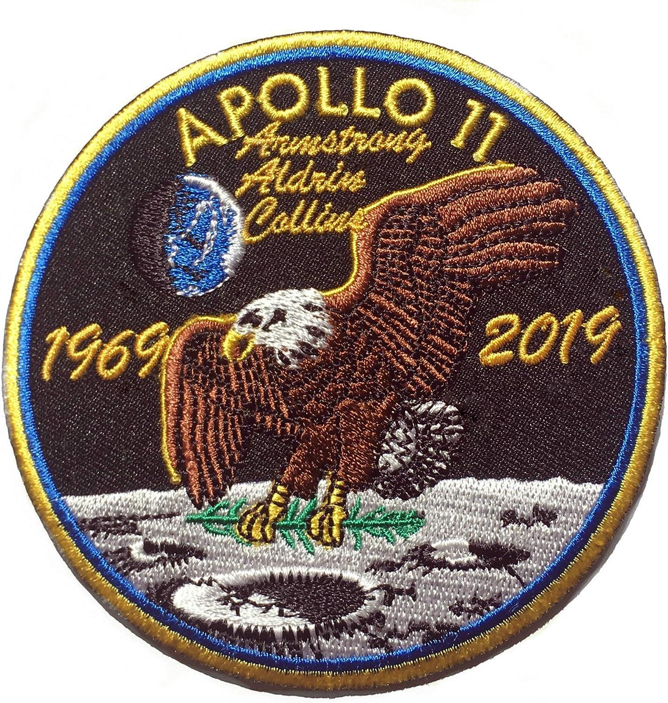 Fresno Mall NASA Apollo 11 50th Branded goods Anniversary Inch 3.5 Iro Patch Embroidered