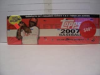 2007 Topps Baseball Complete Factory Set (661 Card Set +Bonus Rookie Pack)