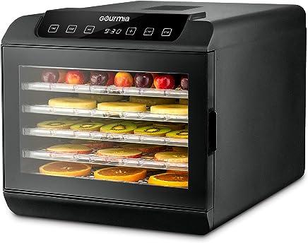 Gourmia GFD1680 Premium Countertop Food Dehydrator 6 Drying Shelves Digital Thermostat Preset...