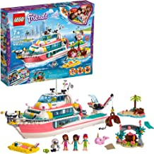 LEGO Friends Rescue Mission Boat 41381 Boat Building Kit with Mini Dolls and Toy Sea Creatures includes Narwhal Figure, Treasure Chest and more for Creative Play (908 Pieces)