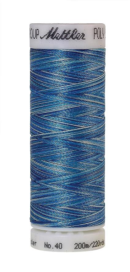 Mettler Poly Sheen Multi Polyester Thread, 200m/219 yd, Faded Denim