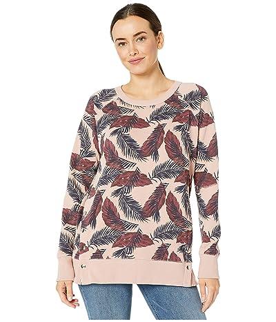 Jag Jeans Kristen Side Snap Crew Sweatshirt (Misty Rose Print) Women