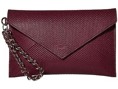 Lacoste Chantaco Chain Envelope Wallet (Grape Wine) Cross Body Handbags