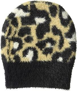 Amazon Brand - Daily Ritual Women's Animal Print Fuzzy Knit Beanie, One Size