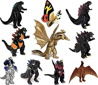 EZFun Set of 10 Godzilla Toys with Carry Bag, Movable Joint Action Figures 2019, King of the Monsters Mini Dinosaur Mothra...