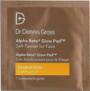 Dr. Dennis Gross Alpha Beta Glow Pad Self-Tanner for Face | Gradual Glow - 20 Towelettes .07 fLoZ / 2.2 mL each