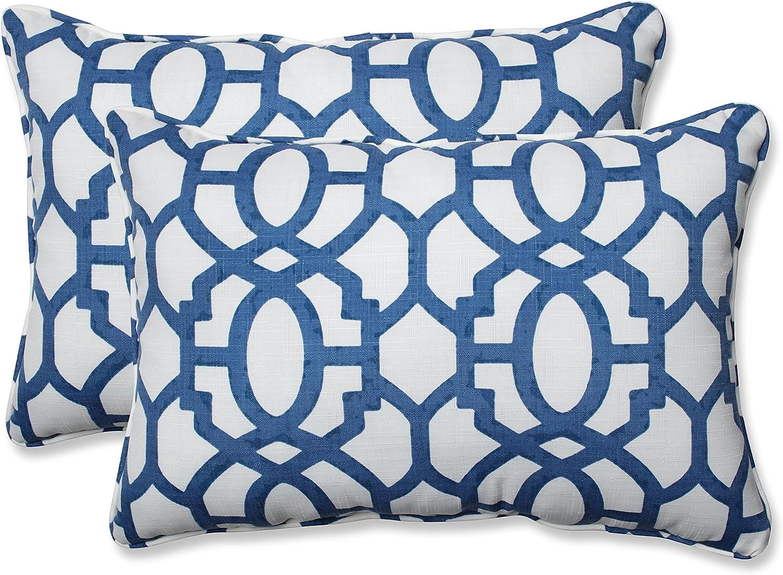 Pillow Perfect Outdoor Indoor Nunu Geo 5 ' X 2 Pack 3 Oversized Lumbar Pillows, 24.5