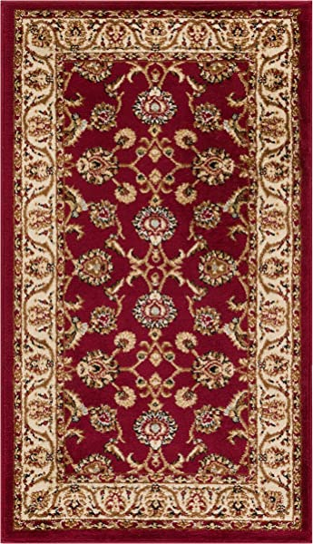 Well Woven Barclay Sarouk Red Traditional Area Rug 2 3 X 3 11