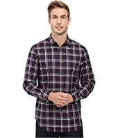 Perry Ellis - Regular Fit Windowpane Pattern Shirt