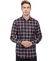 Perry Ellis - Regular Fit Windowpane Pattern Shirt