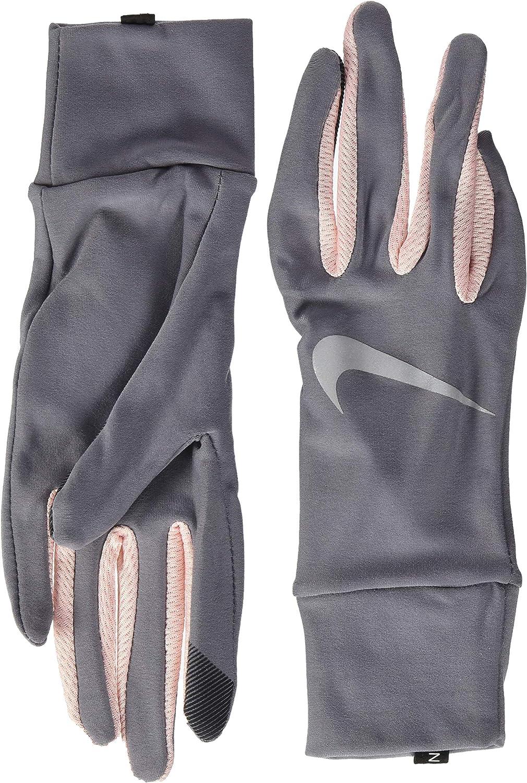 NIKE Women's Lightweight Tech Running Gloves 070 Gunsmoke/Storm Pink/S