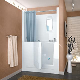 Spa World Venzi Vz2747rws Rectangular Soaking Walk-In Bathtub, 27x47, Right Drain, White