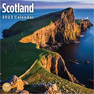 2022 Scotland Wall Calendar by Bright Day, 12 x 12 Inch, European Travel Destination