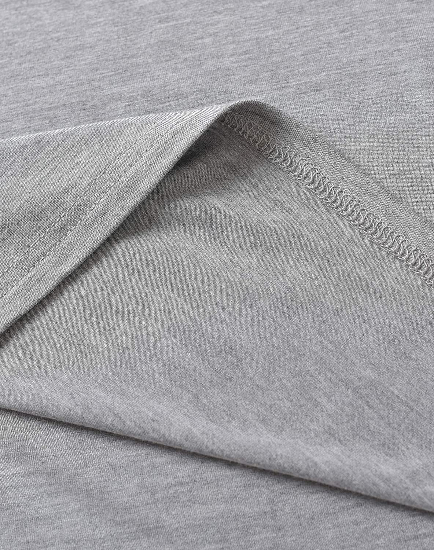 Latuza Mens Bamboo Viscose Nightshirt Short Sleeves Sleep Shirt