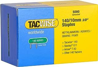 Tacwise 0342 Grapas galvanizadas de tipo 140/10 mm, 10mm, Set de 5000 Piezas