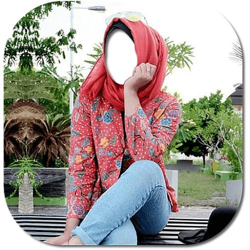 Hijab jeans Beauty photo frames