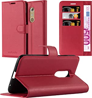 Cadorabo Book Case Works with ZTE Axon 7 in Candy Apple RED – with Magnetic Closure, Stand Function and Card Slot – Wallet Etui Cover Pouch PU Leather Flip