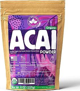 ACAI Powder 8oz | CERTIFIED Organic (Freeze-Dried Brazil Acai Powder) | 100% Raw Antioxidant Booster SUPERFOOD Acai Berry ...