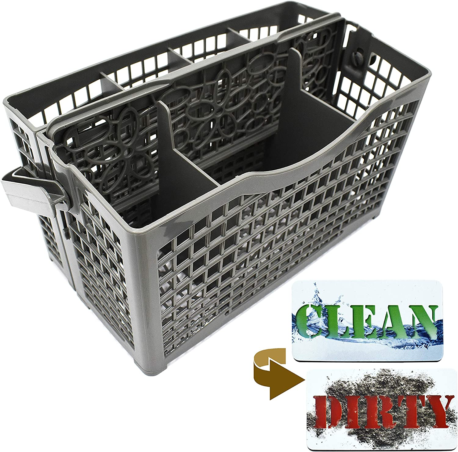 Dishwasher Silverware Max 74% OFF Basket Universal - Clean Excellent Sign Magnet Dirty