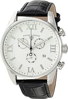 Swiss Legend Men's Bellezza Stainless Steel Swiss-Quartz Watch with Leather Calfskin Strap, Black, 21 (Model: 22011-02-BLK)