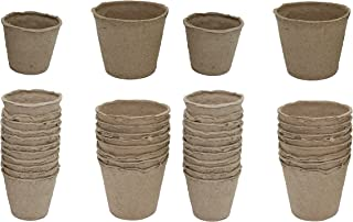 Set of 40 Black Duck Brand Peat Pots Seed Planters in 2 Sizes (16 - 3