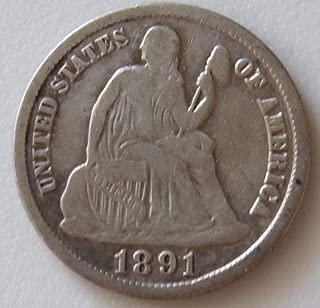 1891 S Seated Liberty Dime 10c XF